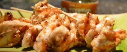 Egyptian dukkah chicken skewers by free!foods
